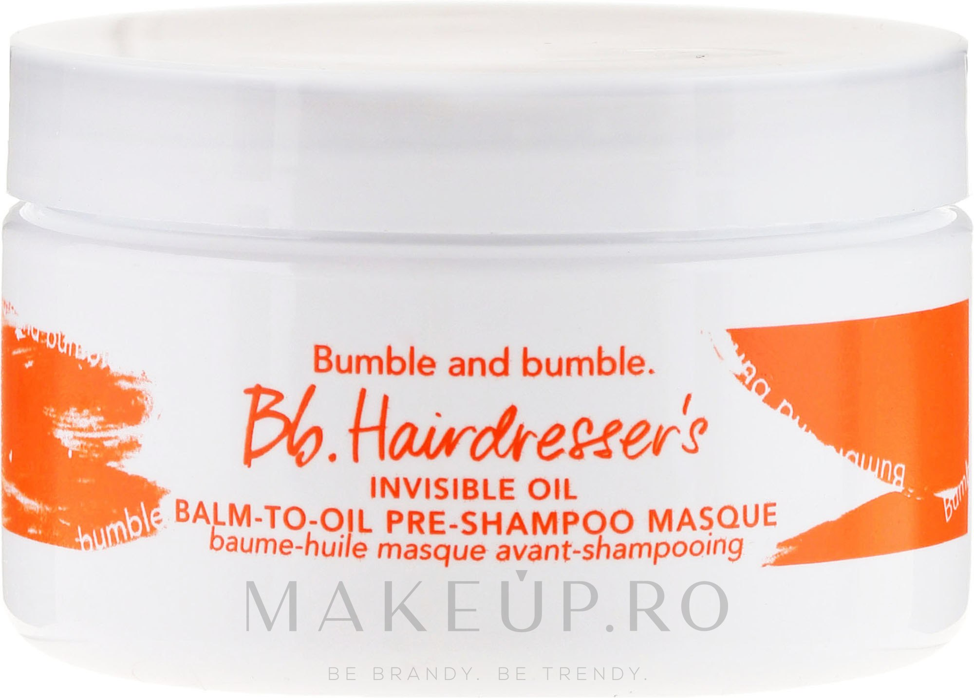 Șampon pentru păr - Bumble And Bumble Hairdresser's Invisible Balm-To-Oil Pre-Shampoo Masque — Imagine 100 ml