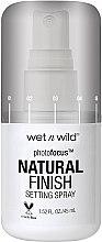 Parfumuri și produse cosmetice Spray pentru fixarea machiajului - Wet N Wild Photofocus Natural Finish Setting Spray