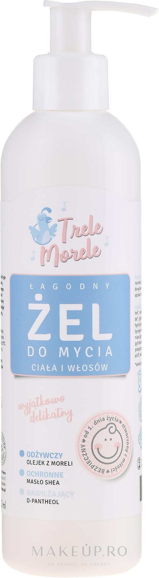 Gel de corp și păr, pentru copii - E-Fiore Trele Morele Baby Gel For Washing The Body And Hair — Imagine 250 ml