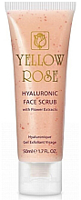 Parfumuri și produse cosmetice Scrub cu acid hialuronic și extracte de flori pentru față - Yellow Rose Hyaluronic Face Scrub
