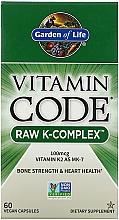 Parfumuri și produse cosmetice Supliment alimentar - Garden of Life Vitamin Code Raw K-Complex