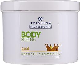 "Parfumuri și produse cosmetice Scrub pentru corp ""Aur"" - Hristina Professional Gold Body Peeling"