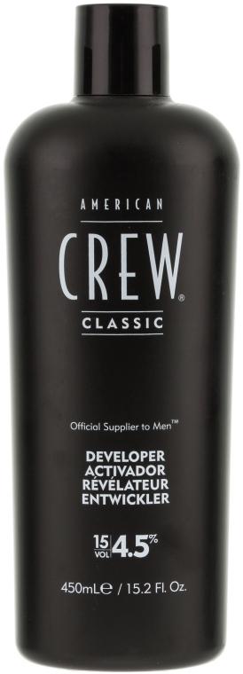 Programator pentru sistemul de mascare a părului gri - American Crew Precision Blend Developer 15 Vol 4.5% — Imagine N1