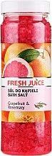 Parfumuri și produse cosmetice Sare de baie - Fresh Juice Grapefruit and Rosemary