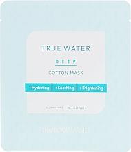 Parfumuri și produse cosmetice Mască de țesut cu efect profund hidratant pentru față - Thank You Farmer True Water Deep Cotton Mask