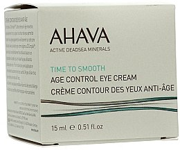 Parfumuri și produse cosmetice Cremă anti-îmbătrânire pentru pielea din jurul ochilor - Ahava Age Control Eye Cream