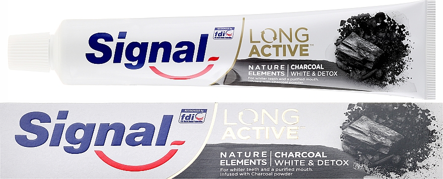 Pastă de dinți - Signal Long Active Nature Elements Charcoal