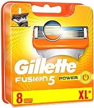 Parfumuri și produse cosmetice Casete de rezervă pentru aparat de ras, 8 bucăți - Gillette Fusion Power