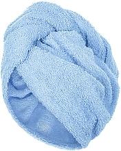 Parfumuri și produse cosmetice Prosop turban pentru uscarea părului, albastru - MakeUp