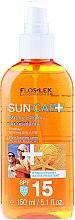 Parfumuri și produse cosmetice Ulei uscat pentru bronz SPF15 - Floslek Sun Care Dry Oil Tanning Spray SPF15