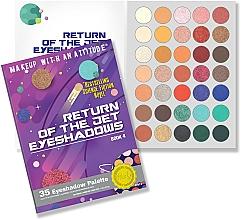Parfumuri și produse cosmetice Paletă farduri de ochi - Rude Return Of The Jet Eyeshadow Palette
