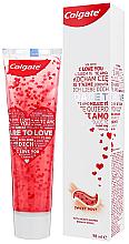 Parfumuri și produse cosmetice Pastă de dinți cu inimioare, albă - Colgate Dare To Love
