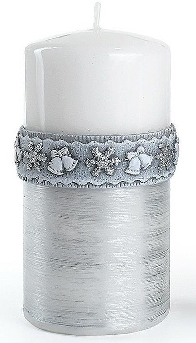Lumânare decorativă, albă, 7x10 cm - Artman Christmas Time — Imagine N1
