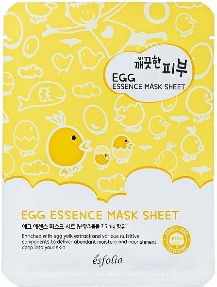Mască din țesătură cu ou - Esfolio Pure Skin Egg Essence Mask Sheet