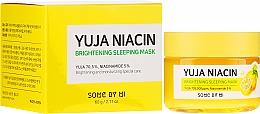 Parfumuri și produse cosmetice Mască pentru uniformizarea tonului, de noapte pentru față - Some By Mi Yuja Niacin Brightening Sleeping