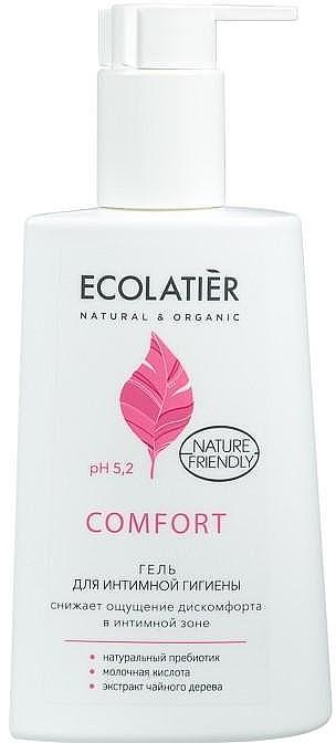 Gel cu acid lactic și probiotic pentru igiena intimă - Ecolatier Comfort