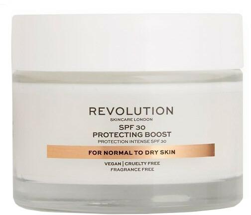 Cremă hidratantă pentru ten uscat - Revolution Skincare Protecting Boost SPF30 — Imagine N1