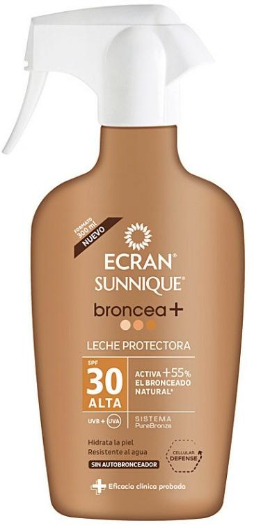 Spray bronzant cu protecție solară - Ecran Sunnique Broncea+ Spf30 — Imagine N1