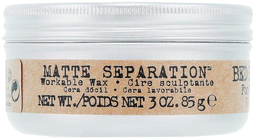 Ceară moale pentru aranjarea părului - Tigi B For Men Matte Separation Workable Wax  — Imagine N1