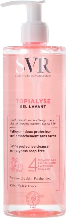Gel de curățare pentru ten sensibil și uscat - SVR Topialyse Gel Lavant — Imagine N3
