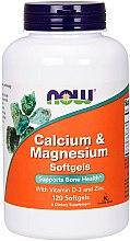 Parfumuri și produse cosmetice Calciu-magneziu cu vitamina D și zinc - Now Foods Calcium & Magnesium Softgels