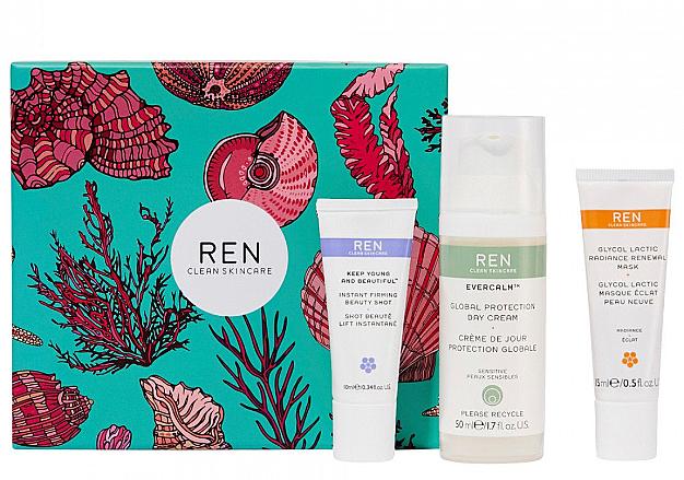 Set - REN Face Favourites Gift Set (f/mask/15ml + f/cre/50ml + serum/10ml) — Imagine N1