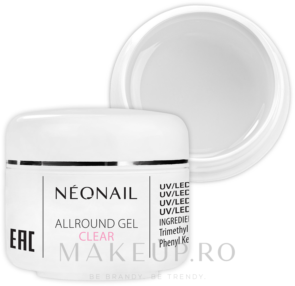 Gel monofazic pentru unghii - NeoNail Professional Basic Allround Gel — Imagine Clear