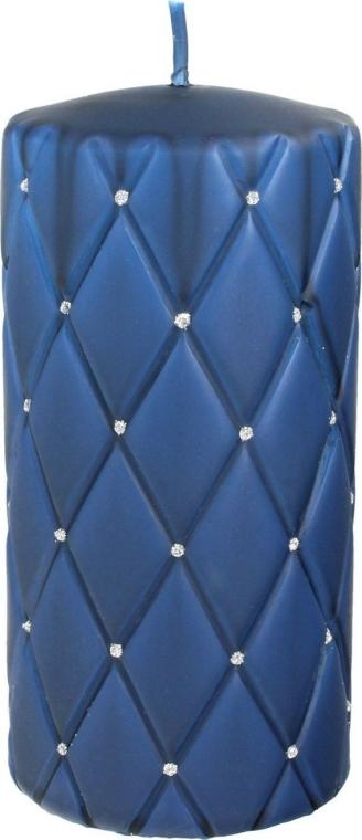 Lumânare aromată, 7x14 cm, albastră - Artman Florence Mat — Imagine N1