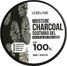 Parfumuri și produse cosmetice Gel hidratant cu cărbune pentru față - Lebelage Moisture Charcoal 100% Soothing Gel
