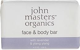 Parfumuri și produse cosmetice Săpun pentru față și corp - John Masters Organics Lavender Rose Geranium & Ylang Ylang Face & Body Bar