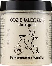"""Parfumuri și produse cosmetice Lapte de baie pe bază de lapte de capră """"Portocală și Vanilie"""" - E-Fiore Orange And Vanilla Bath Milk"""