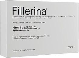 Parfumuri și produse cosmetice Sistem dermato-cosmetic, nivel 1 - Fillerina Dermo-Cosmetic Filler Treatment Grade 1 (gel/30ml + cr/30ml + applicator/2szt)