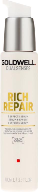 Ser pentru păr uscat și deteriorat - Goldwell Dualsenses Rich Repair 6 Effects Serum — Imagine N1