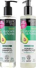 Parfumuri și produse cosmetice Set pentru îngrijirea părului - Organic Shop (h/shm/280ml + h/cond/280ml)