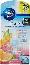 """Parfumuri și produse cosmetice Rezervă aromatizator auto """"Fructe tropicale"""" - Ambi Pur Air Freshener Refill Tropical Fruits"""