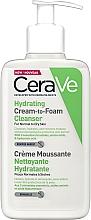 Parfumuri și produse cosmetice Spumă hidratantă de curățare - CeraVe Hydrating Cream To Foam Cleanser For Normal To Dry Skin
