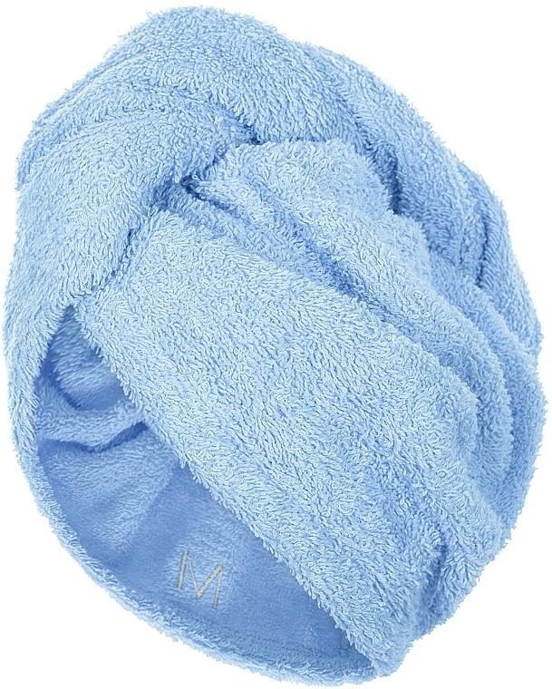 Prosop turban pentru uscarea părului, albastru - MakeUp