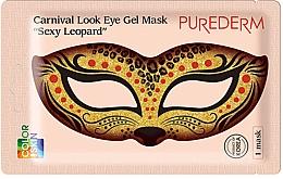Parfumuri și produse cosmetice Mască de colagen pentru zona ochilor - Purederm Carnival Look Eye Gel Mask Sexy Leopard