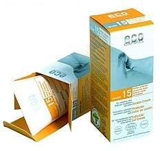 Parfumuri și produse cosmetice Cremă de protecție solară SPF15 cu extract de rodie și cătină - Eco Cosmetics Suntan Cream SPF 15