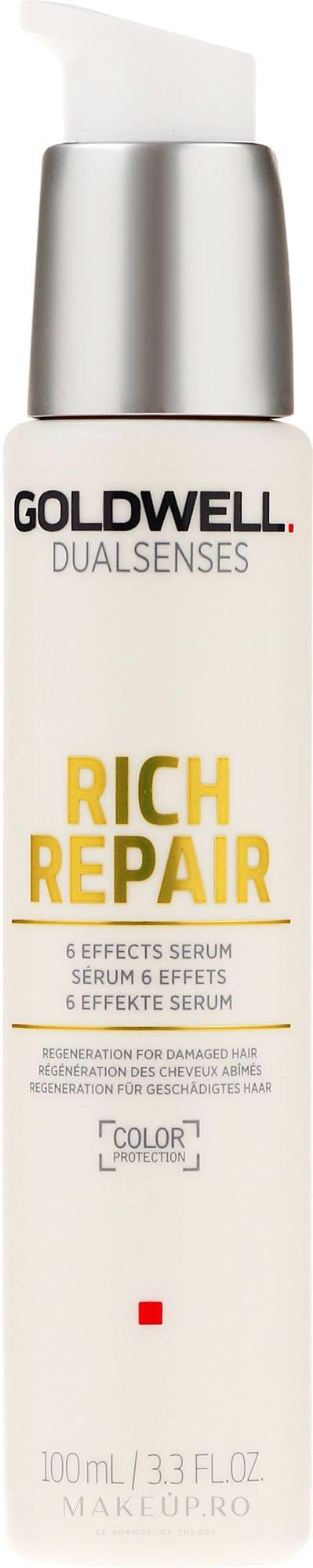 Ser pentru păr uscat și deteriorat - Goldwell Dualsenses Rich Repair 6 Effects Serum — Imagine 100 ml