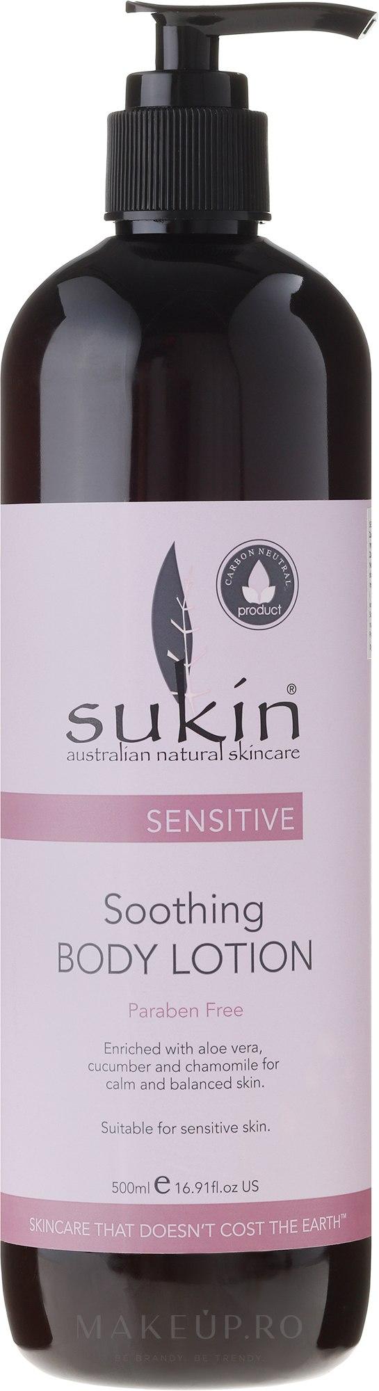 Loțiune revigorantă pentru corp - Sukin Sensitive Soothing Body Lotion — Imagine 500 ml