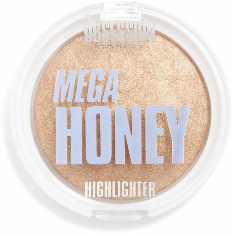Highlighter pentru față - Makeup Obsession Mega Honey Highlighter — Imagine N1