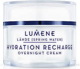 Parfumuri și produse cosmetice Cremă de noapte hidratantă și regeneratoare - Lumene Lahde Hydration Recharge Overnight Cream