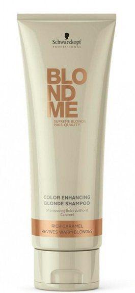 Șampon pentru nuanțe calde - Schwarzkopf Professional Blondme Color Enhancing Rich Caramel Warm Blond Shampoo — Imagine N1