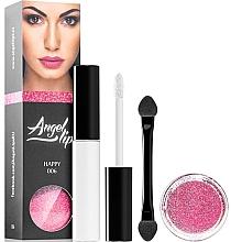Parfumuri și produse cosmetice Set - Di Angelo Angel Lips (base/4ml + glitter/3g) (001 –Dark)