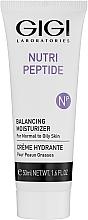 Parfumuri și produse cosmetice Cremă peptidică pentru tenul gras și mixt - Gigi Nutri-Peptide Balancing Moisturizer Oily Skin
