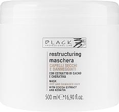 """Parfumuri și produse cosmetice Mască regenerantă de păr """"Ciocolată și Cheratină"""" - Black Professional Line Chocolate & Keratin Mask"""