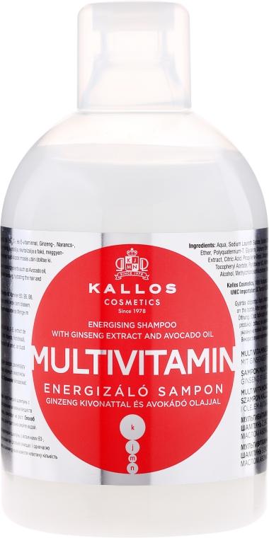 Șampon cu extract de Ginseng și unt de Shea - Kallos Cosmetics Energising Hair Multivitamin