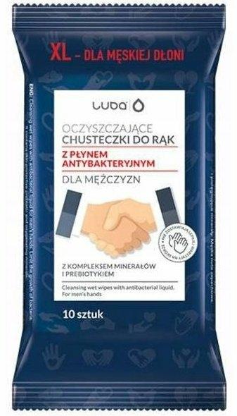 Șervețele umede cu lichid antibacterian de mâini, pentru bărbați - Luba — Imagine N1