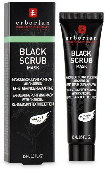 Scrub-mască pe bază de cărbune pentru față - Erborian Black Scrub Mask